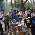 千刈キャンプでカレーライス作り(2016.4.9, 千刈)