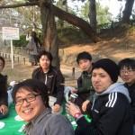 壷井研,谷水研と合同でお花見 (2016.3.30, 夙川)