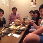岡本くん院試合格おめでとう飲み会(2015.8.6, 三田)