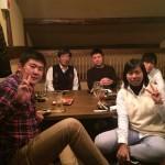 くし焼きで千葉研究室2015忘年会  (2015.12.22, 三田)