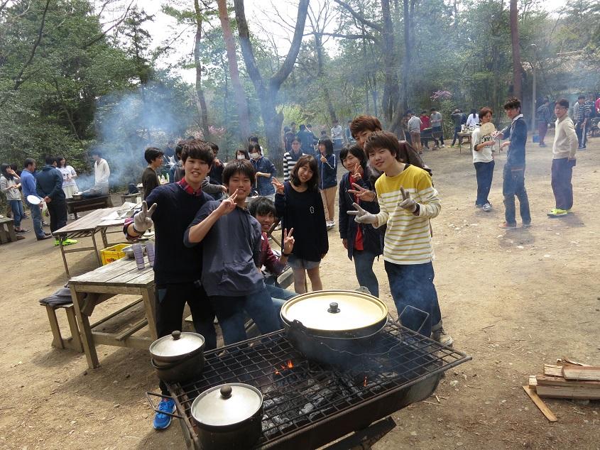 2015.04.12 新学科1期生との千刈キャンプでの風景