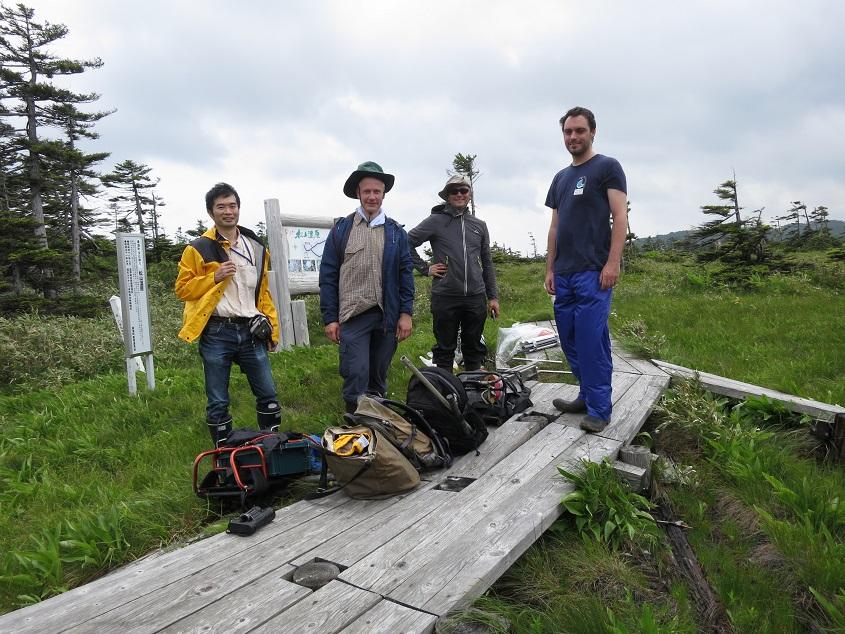 2015.07.14 北海道美深町松山湿原での泥炭採取集合写真