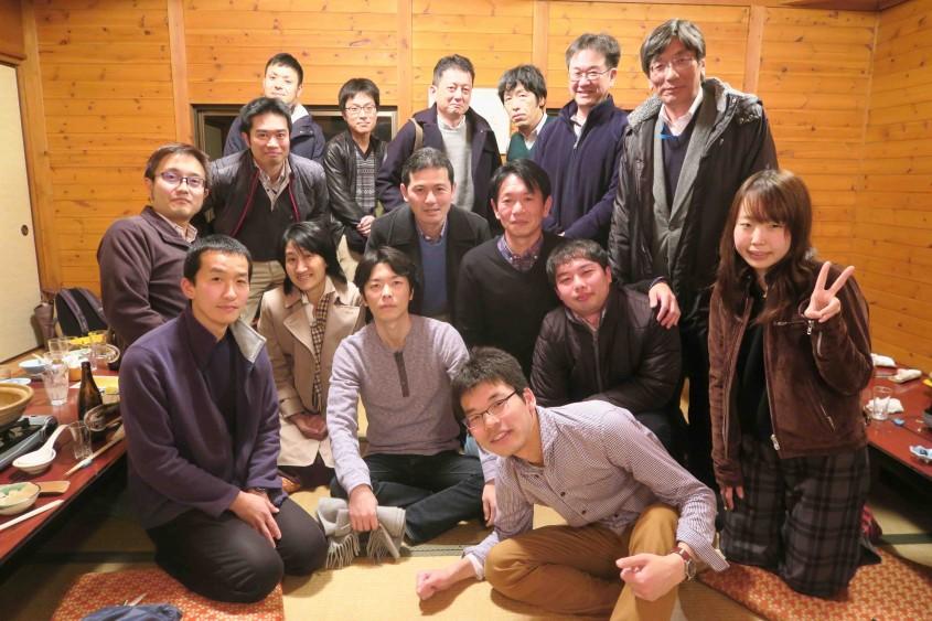 2015.12.10 学科スタッフ一同でのぼたん鍋忘年会@藤の坊さんだ山荘