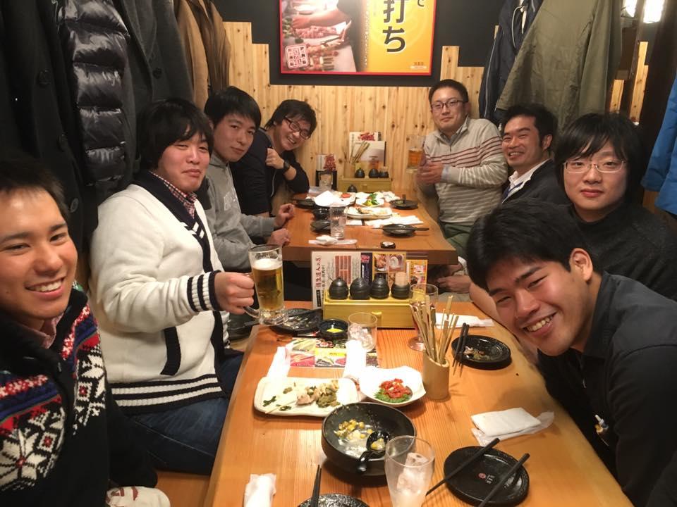 2015.12.14 壷井研との合同忘年会@鳥貴族