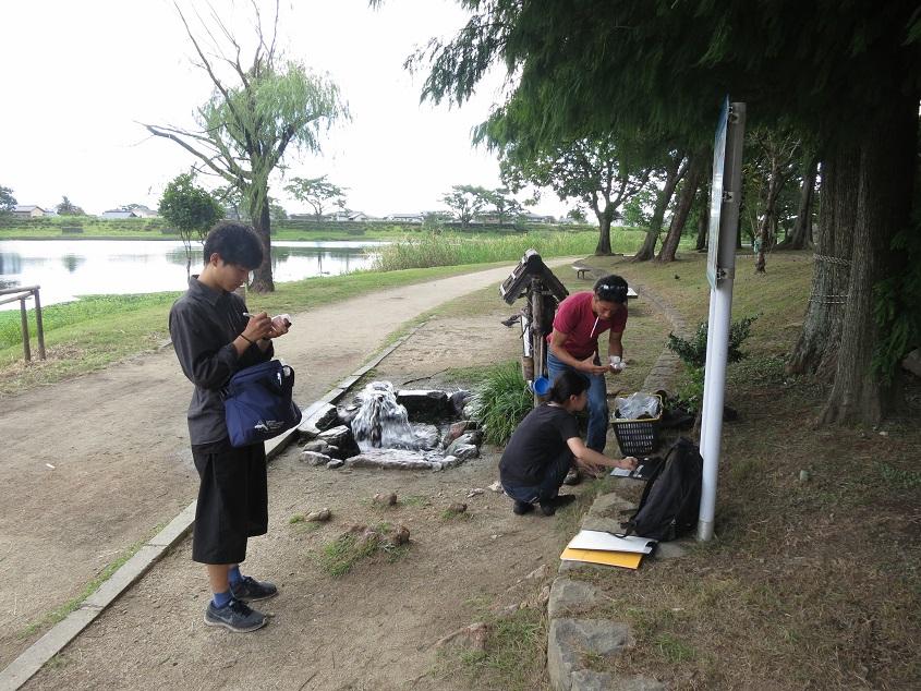 2016.08.30 阿蘇山西麓の地下水調査を実施