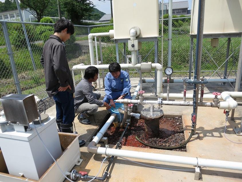 2017.06.01 三重県での温泉水の採取