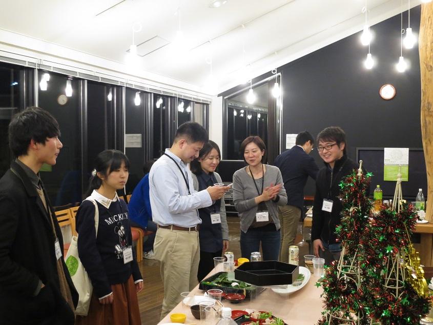 2017.12.22 地球研シンポ後の懇親会(岡山大井上さん他と)