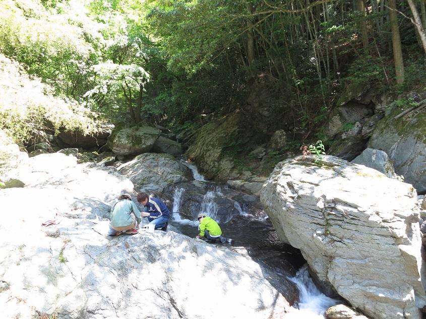2019.5.22 市ノ川鉱山周辺の河川水採水
