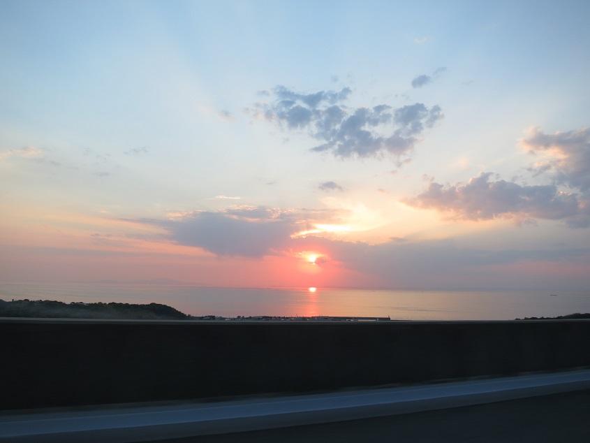 2019.5.23 四国野外調査後の播磨灘の夕日