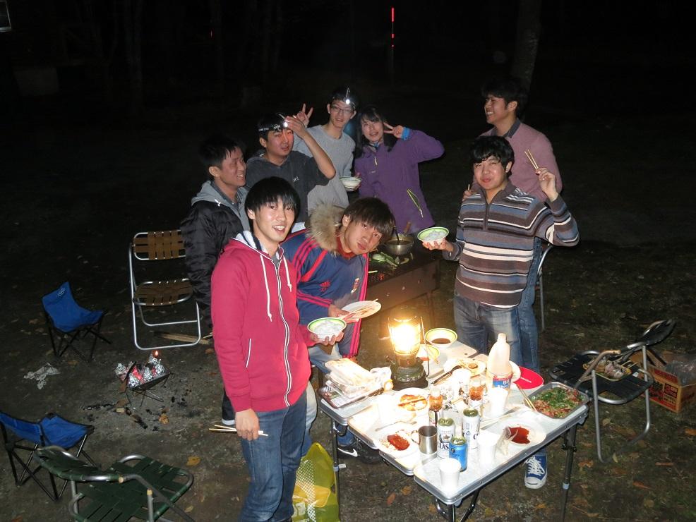 2019.11.14 「島根巡検」三瓶山北の原キャンプ場BBQ準備写真