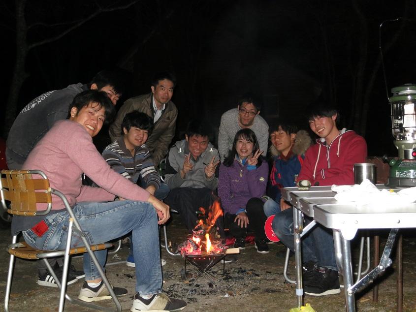 2019.11.14 「島根巡検」三瓶山北の原キャンプ場BBQ集合写真